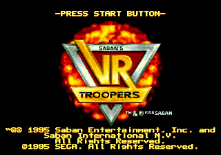 VR Troopers (USA, Europe) Title Screen