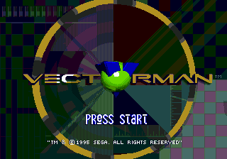 Vectorman (USA, Europe) Title Screen