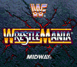 WWF WrestleMania - The Arcade Game (USA) Title Screen