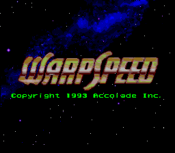 Warpspeed (USA) Title Screen
