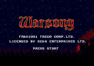 Warsong (USA) Title Screen