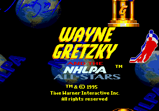 Wayne Gretzky and the NHLPA All-Stars (USA, Europe) Title Screen