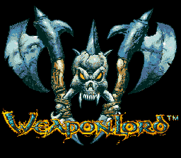 Weaponlord (USA) Title Screen