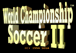World Championship Soccer II (USA) Title Screen