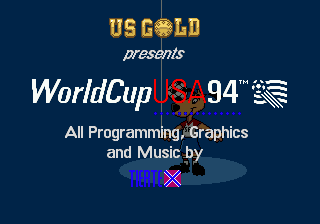 World Cup USA 94 (USA, Europe) Title Screen