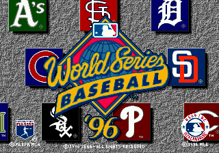 World Series Baseball '96 (USA) Title Screen