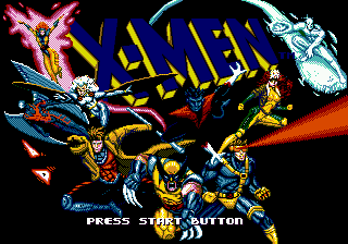 X-Men (Europe) Title Screen