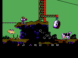 Earthworm Jim (Brazil) In game screenshot