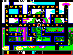 Fantasy Zone - The Maze (USA, Europe) In game screenshot