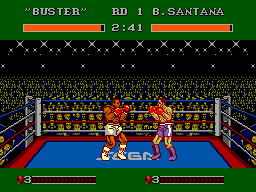 James 'Buster' Douglas Knockout Boxing (USA) In game screenshot