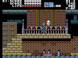 Master of Darkness (Europe) In game screenshot