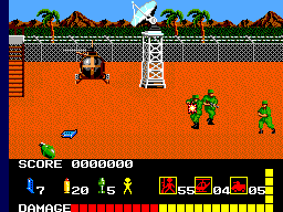 Operation Wolf (Europe) In game screenshot