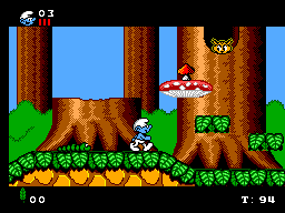 Smurfs, The (Europe) (En,Fr,De,Es) In game screenshot