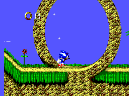 Sonic Blast (Brazil) In game screenshot