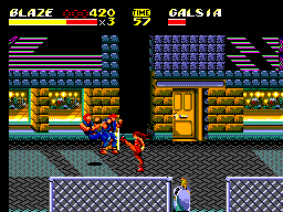 Streets of Rage II (Europe) In game screenshot