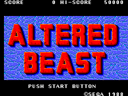 Altered Beast (USA, Europe) Title Screen
