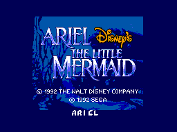Ariel - The Little Mermaid (Brazil) Title Screen