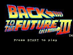 Back to the Future Part III (Europe) Title Screen