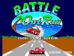Battle Out Run (Europe) Title Screen