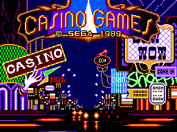 Casino Games (USA, Europe) Title Screen