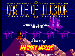 Castle of Illusion Starring Mickey Mouse (USA) Title Screen