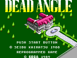 Dead Angle (USA, Europe) Title Screen