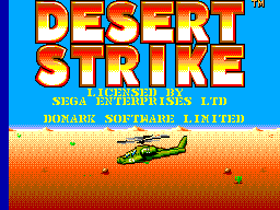 Desert Strike (Europe) (En,Fr,De,Es) Title Screen