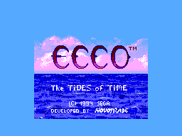 Ecco - The Tides of Time (Brazil) Title Screen