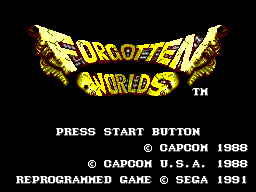 Forgotten Worlds (Europe) Title Screen