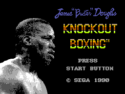 James 'Buster' Douglas Knockout Boxing (USA) Title Screen