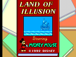 Land of Illusion Starring Mickey Mouse (Europe) Title Screen