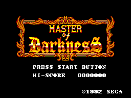 Master of Darkness (Europe) Title Screen