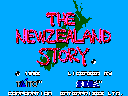 New Zealand Story, The (Europe) Title Screen