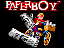 Paperboy (Europe) Title Screen