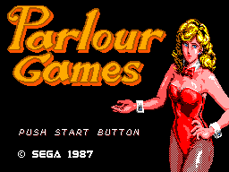 Parlour Games (USA, Europe) Title Screen