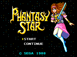 Phantasy Star (USA, Europe) (v1.2) Title Screen