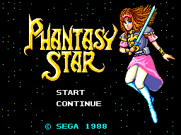 Phantasy Star (USA, Europe) (v1.3) Title Screen