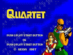 Quartet (USA, Europe) Title Screen