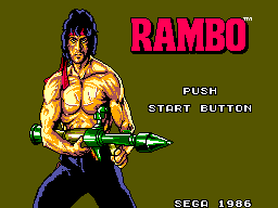 Rambo - First Blood Part II (USA) Title Screen