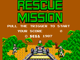 Rescue Mission (USA, Europe) Title Screen