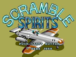 Scramble Spirits (Europe) Title Screen
