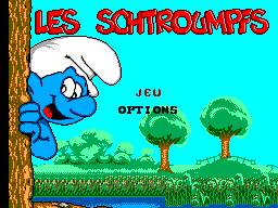 Smurfs, The (Europe) (En,Fr,De,Es) Title Screen