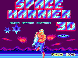 Space Harrier 3D (Japan) Title Screen