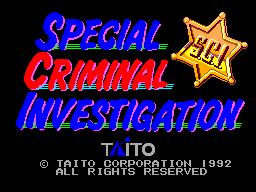 Special Criminal Investigation (Europe) Title Screen