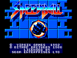 Speedball (Europe) (Virgin) Title Screen