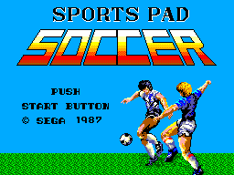 Sports Pad Soccer (Japan) Title Screen