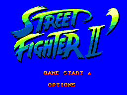 Street Fighter II (Brazil) Title Screen