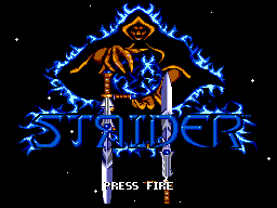 Strider II (Europe) Title Screen
