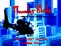 Thunder Blade (USA, Europe) Title Screen