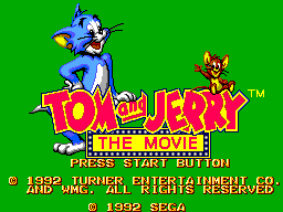 Tom and Jerry - The Movie (Europe) Title Screen